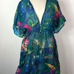 India Boutique Sheer Kimono Top Swim Cover Up